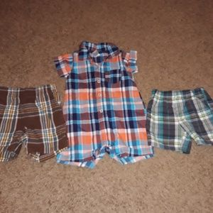 Set of 3 Plaid Items Boys 12 Months